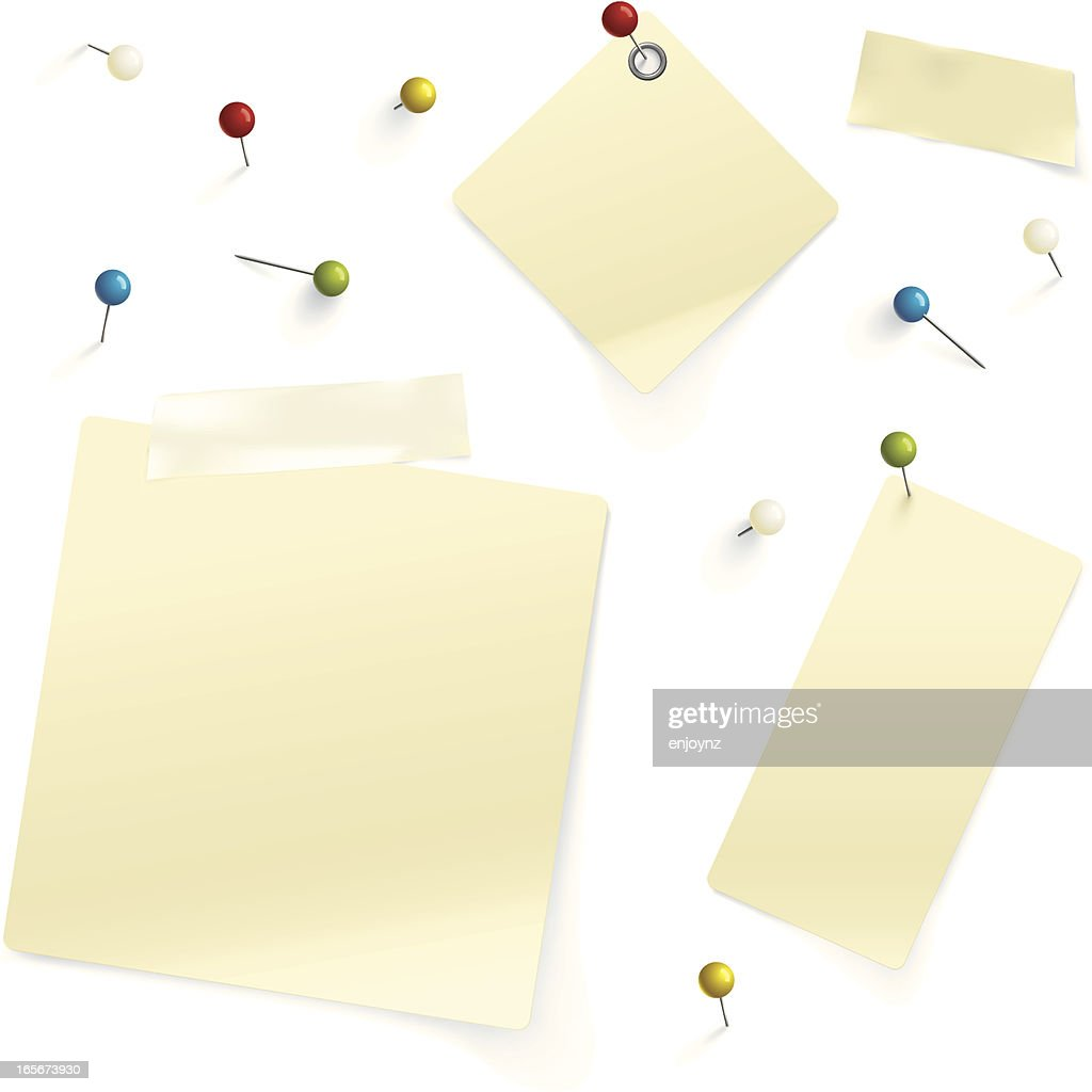 Pins and paper : stock illustration