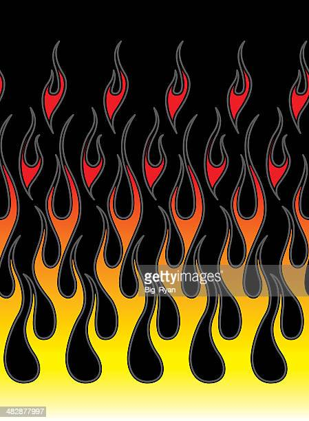 pinstriped hot rod flames (tileable)