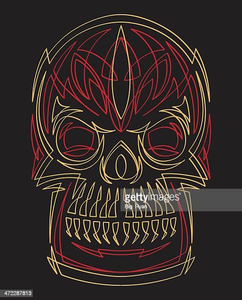 pinstriped skull