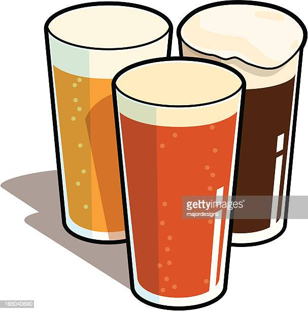 pints - beer glass stock illustrations, clip art, cartoons, & icons