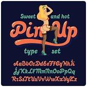 Pin-up font
