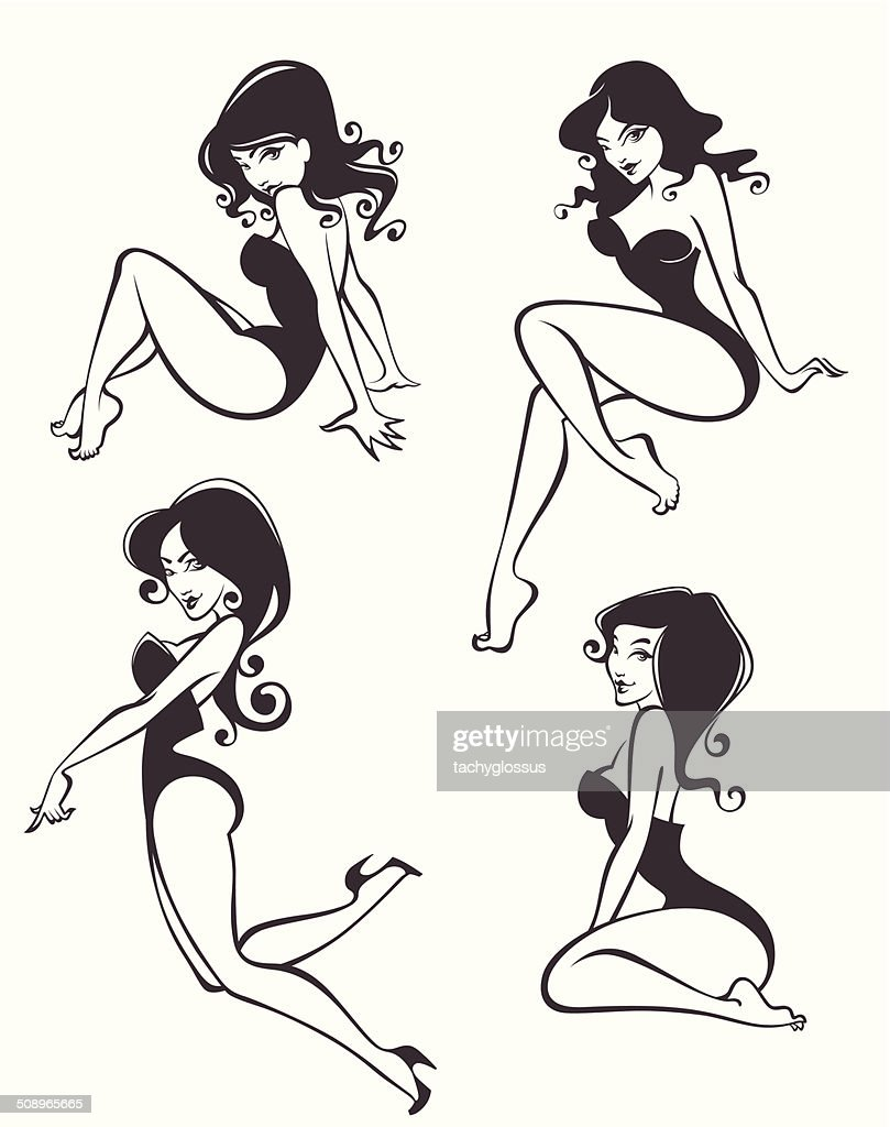 pinup girls in different poses