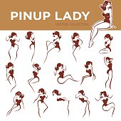 pinup lady poses