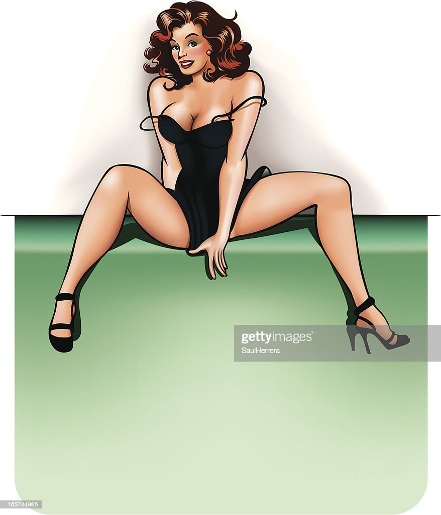 pin-up with copy space