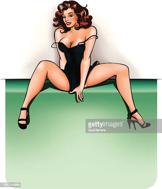 pin-up with copy space - sex and reproduction stock illustrations, clip art, cartoons, & icons