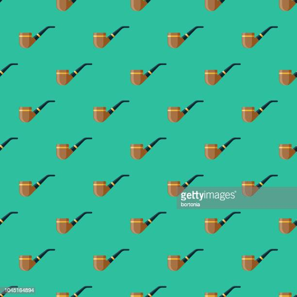 pipe germany seamless pattern - bong stock illustrations