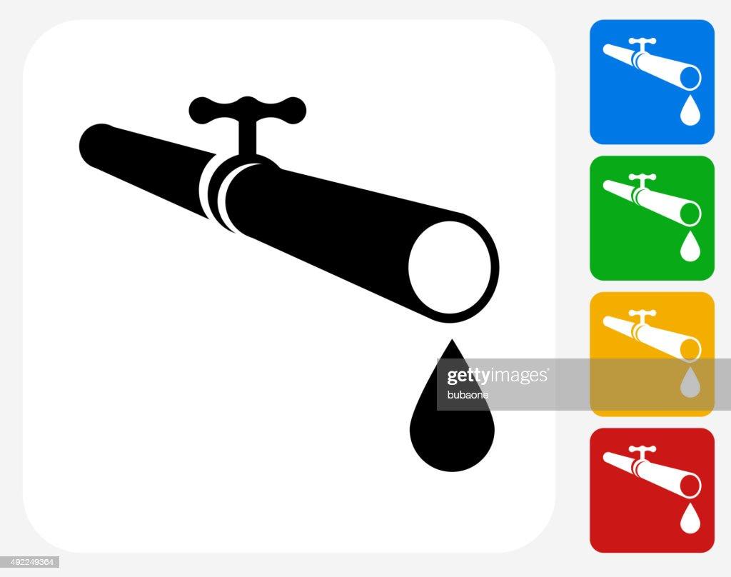 Pipe Icon Flat Graphic Design