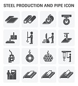 Pipe production icon