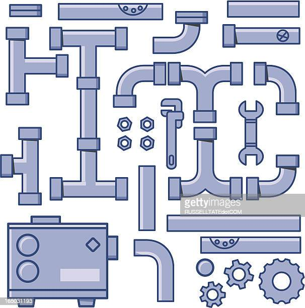 pipe system - water treatment stock illustrations, clip art, cartoons, & icons
