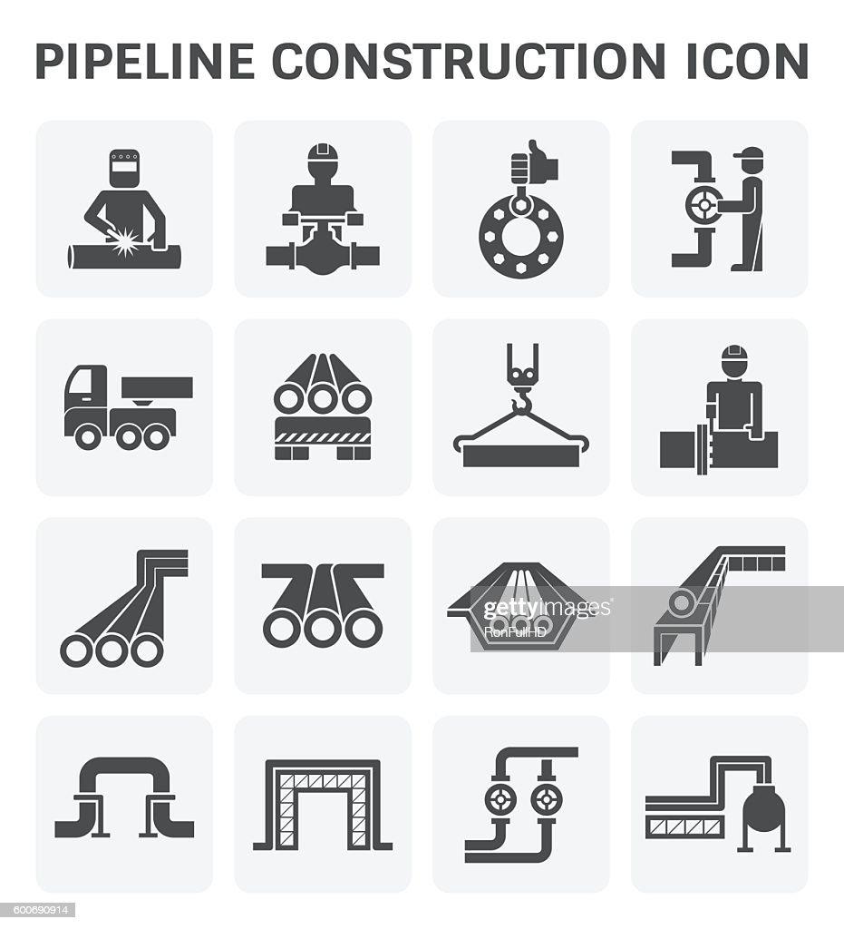 Pipeline construction icon