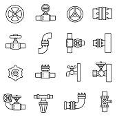 Pipeline icons set.