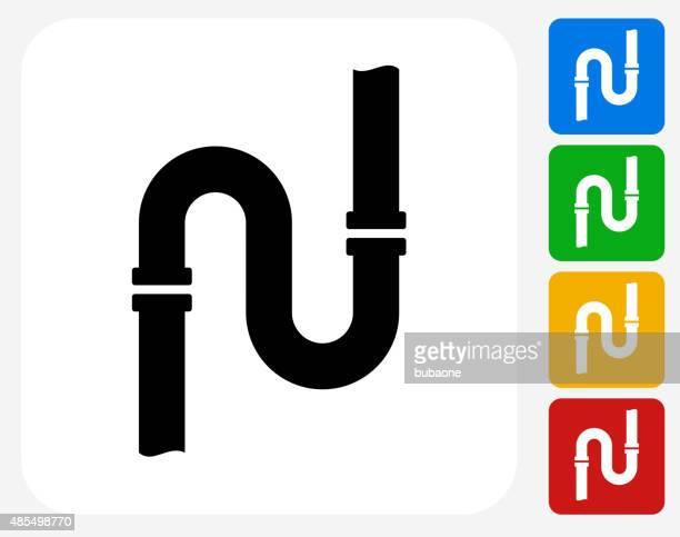 Pipes Symbol flache Grafik Design