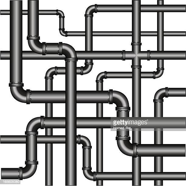 pipes - corner of building stock illustrations, clip art, cartoons, & icons