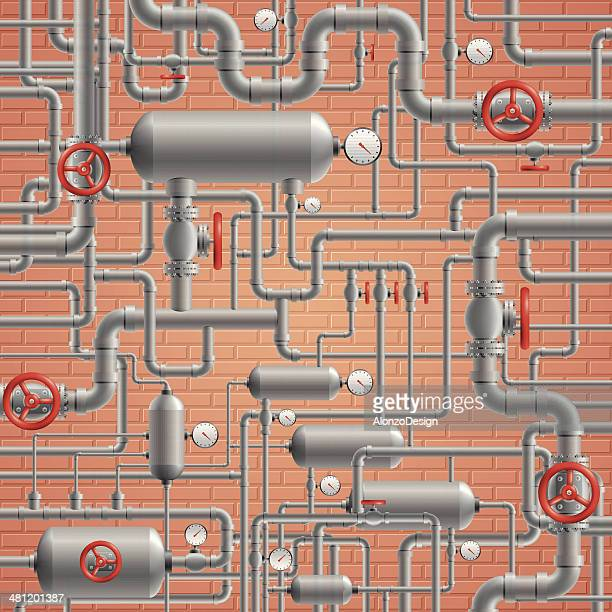 pipes - water valve stock illustrations, clip art, cartoons, & icons