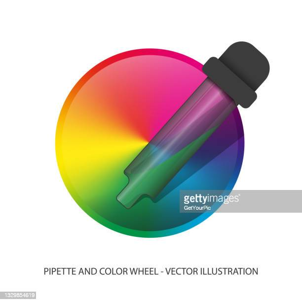 pipette with color wheel detailed 3d
