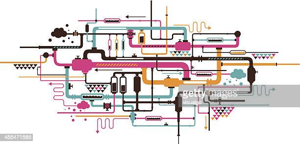 piping - pipe tube stock illustrations