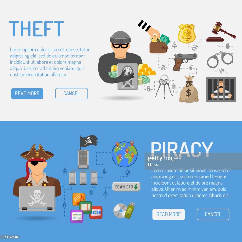 Piracy and Theft Banners