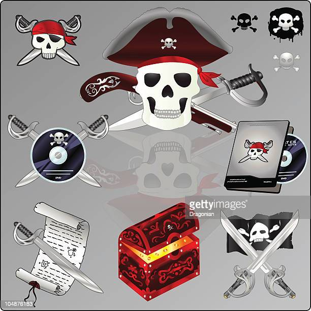 Piracy clipart / icon set