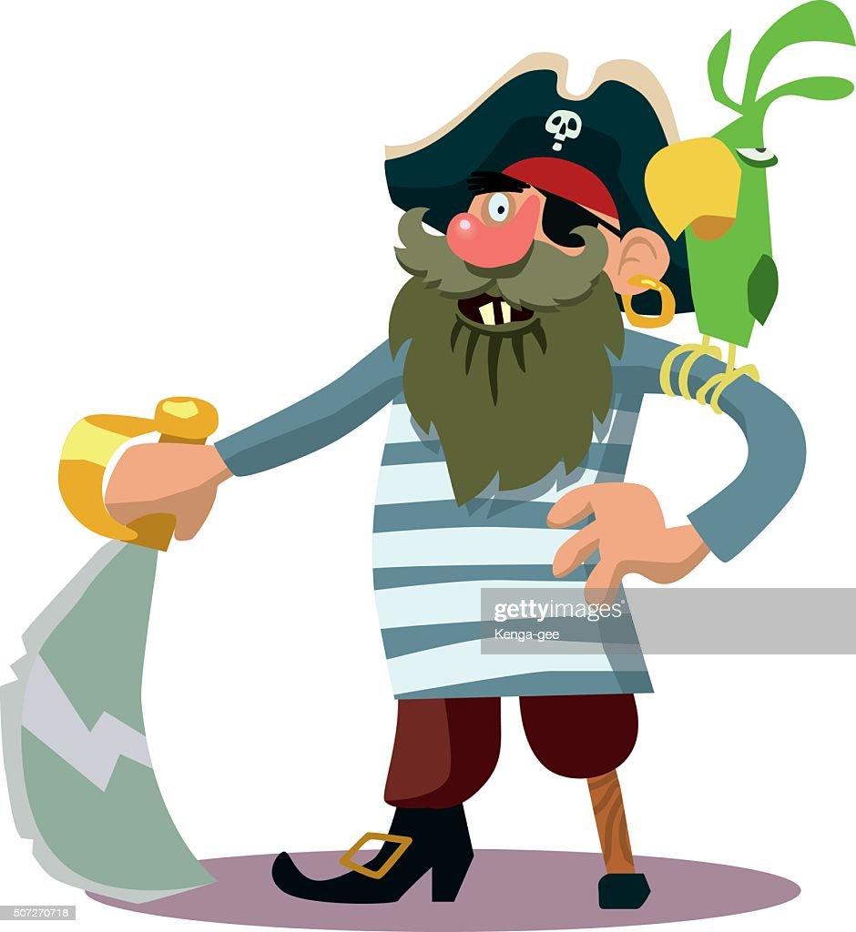Pirat with parrot