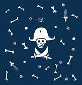 Pirate background cartoon