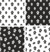 Pirate Captain Avatar Big & Small Aligned & Random Seamless Pattern Set