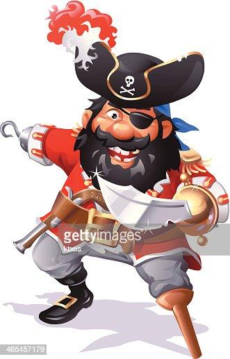 pirate captain blackbeard vector art getty images