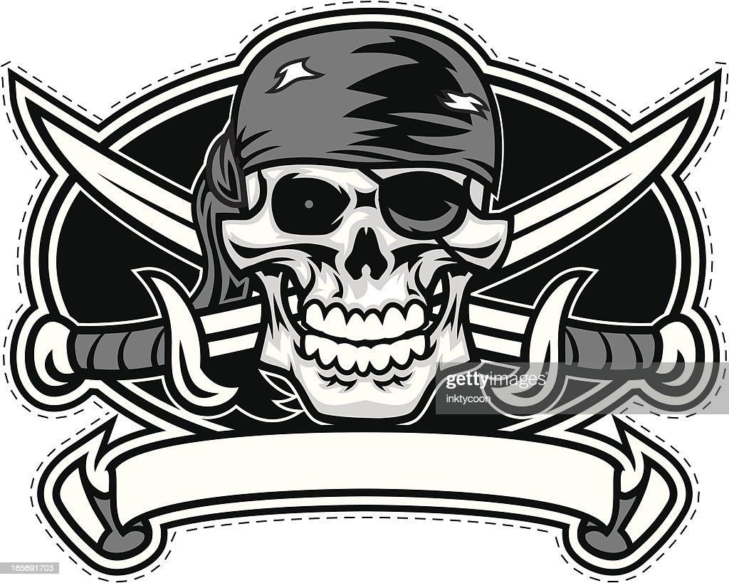pirate crest design vector art getty images