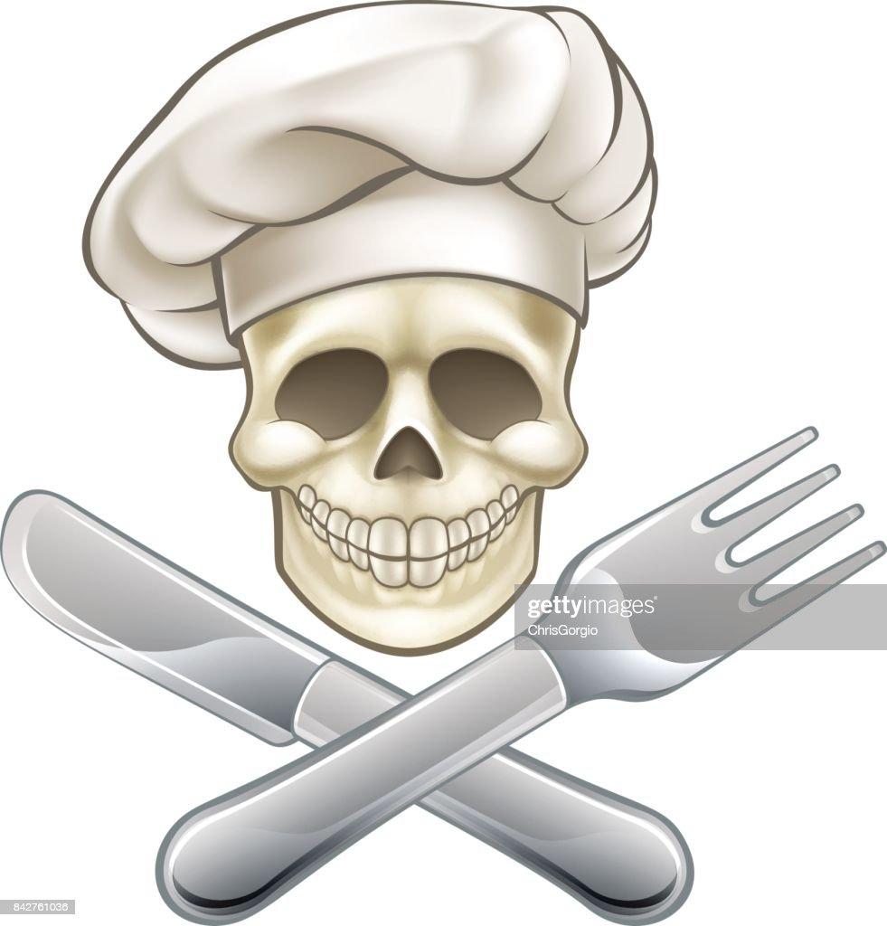 Pirate Crossbones Chef Cartoon