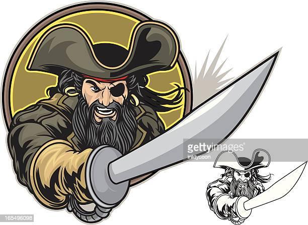 pirate fight - pirate criminal stock illustrations
