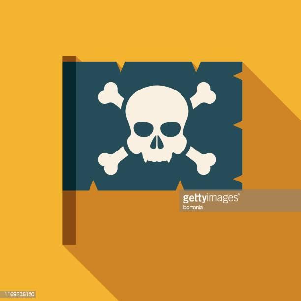 海賊フラグアイコン - 海賊旗点のイラスト素材/クリップアート素材/マンガ素材/アイコン素材