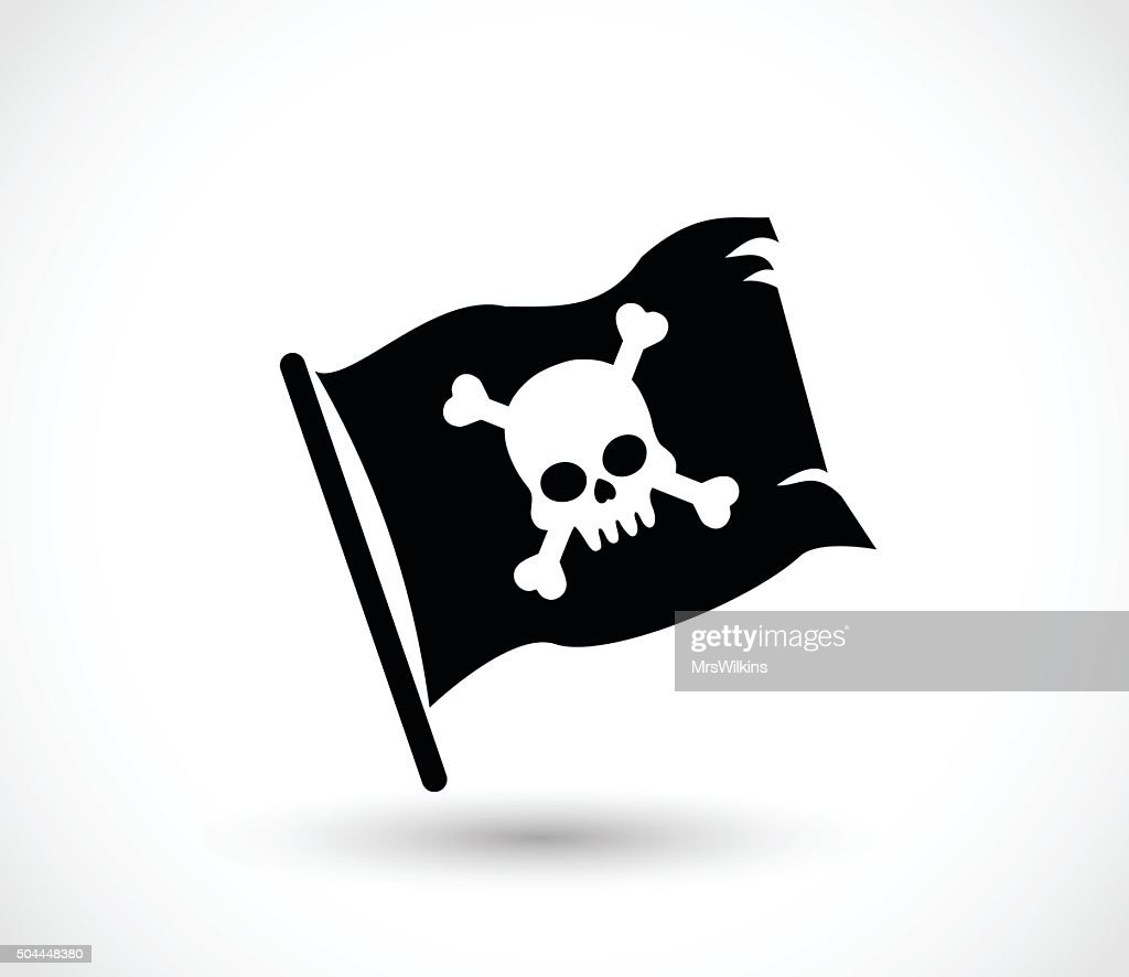 Pirate flag icon vector illustration