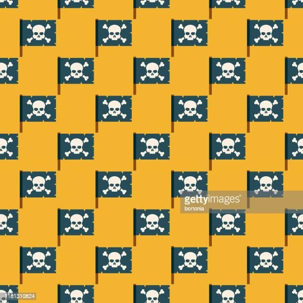 海賊フラグパターン - 海賊旗点のイラスト素材/クリップアート素材/マンガ素材/アイコン素材