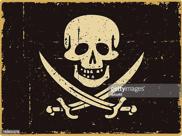 海賊旗 - 海賊旗点のイラスト素材/クリップアート素材/マンガ素材/アイコン素材