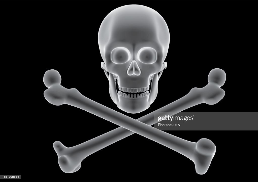 pirate flag with skull and cross bones over a black background jolly roger