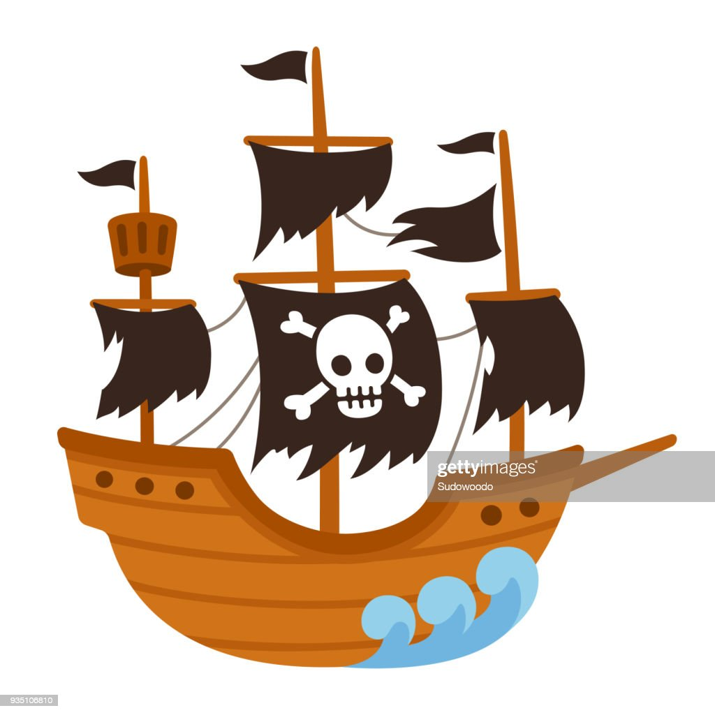 Pirate ghost ship cartoon