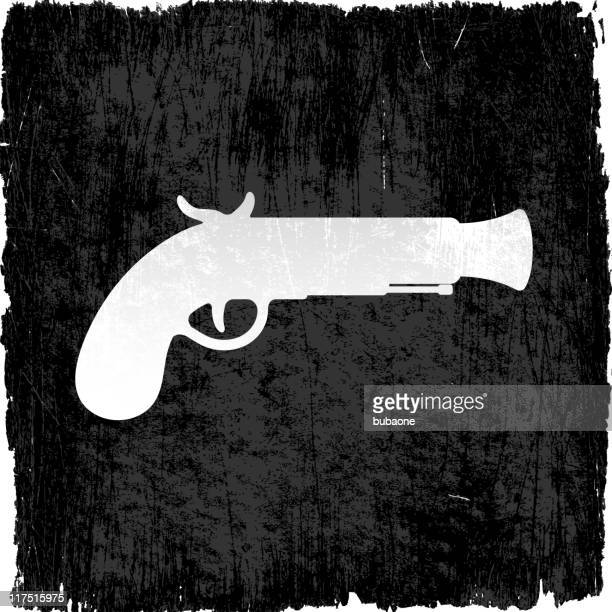 pirate gun on royalty free vector background - wood stain stock illustrations, clip art, cartoons, & icons