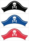 Pirate Hat in Three Colours
