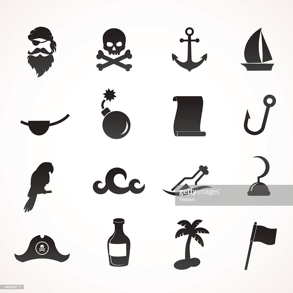 Pirate icon set.