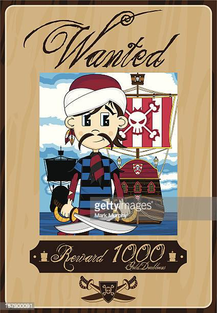 Pirate in Turban Wanted Poster