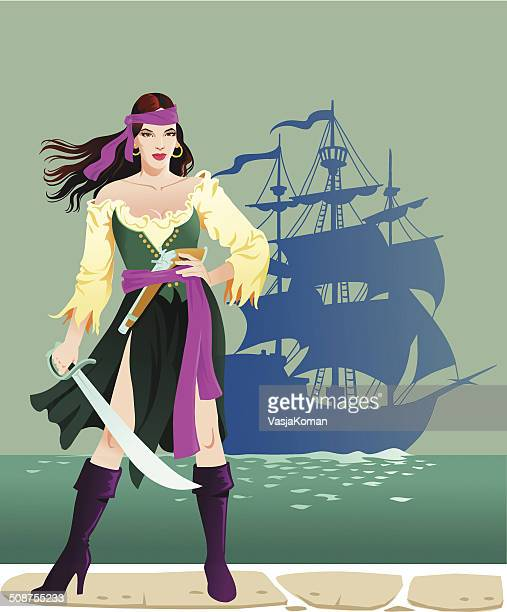 Pirate Lady With Cutlass