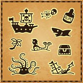 Pirate Map Icons