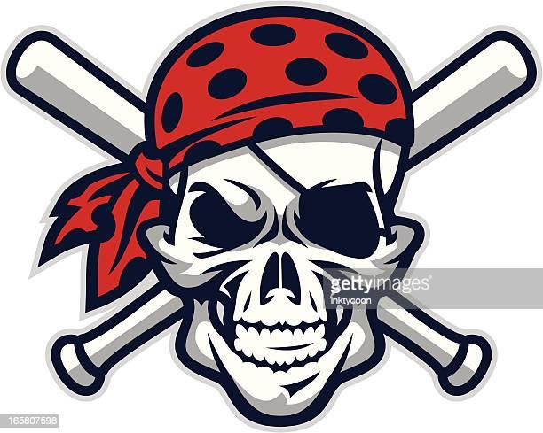 Pirate Mascot Baseball