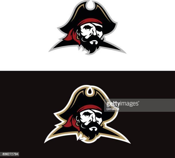 pirate mascot - beard stock illustrations, clip art, cartoons, & icons