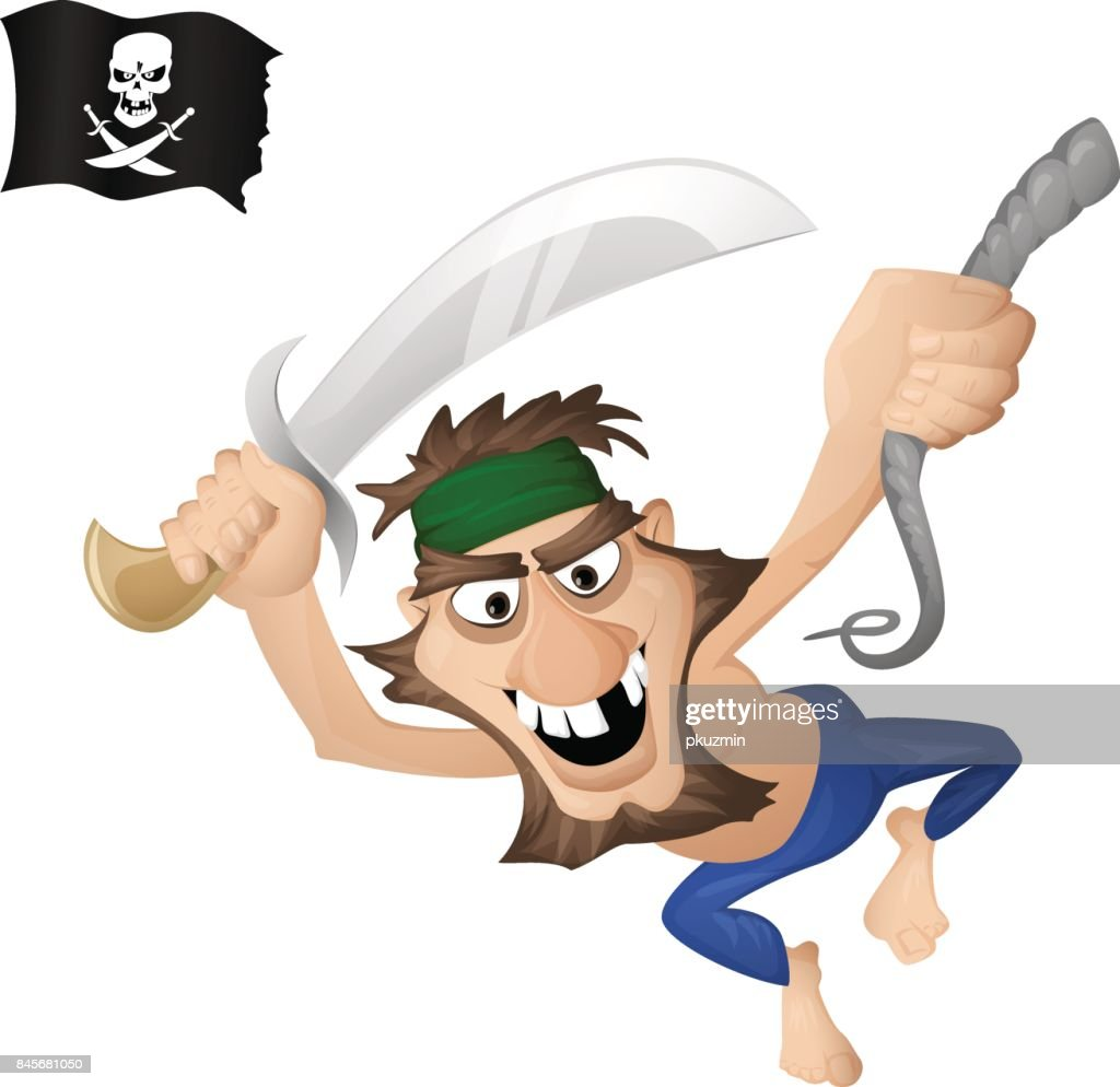 A pirate on a rope