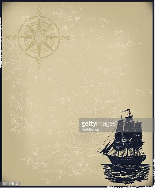 pirate ship background - pirate criminal stock illustrations