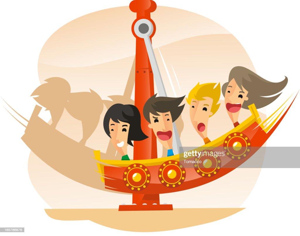 Pirate Ship Speed Aamusement Park Ride
