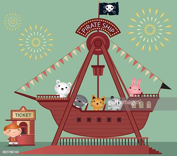 ilustrações, clipart, desenhos animados e ícones de navio pirata - tall ship