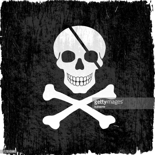 Piratas con cráneo vectoriales sin royalties de fondo