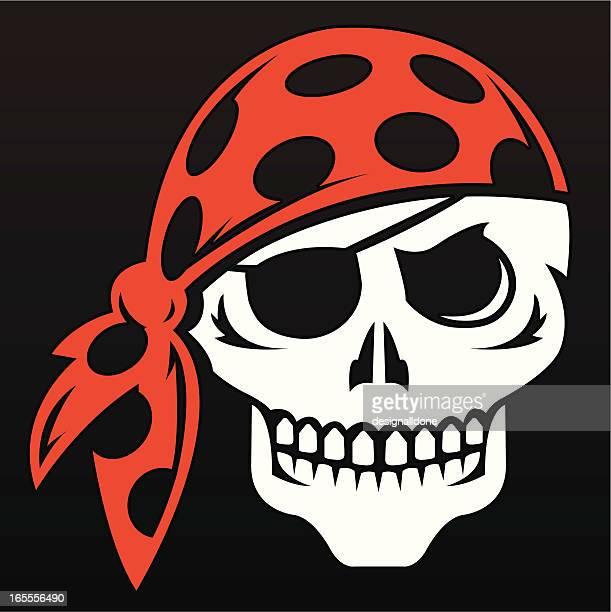 Pirate Skull Wearing Bandana