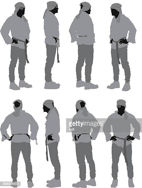 Pirate standing in different poses